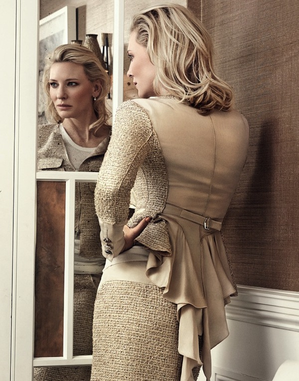 Cate-blanchett-shot-by-Craig-McDean-US-Vogue-January-2014-tweed-dress-saved-by-Chic-n-Cheap-Living