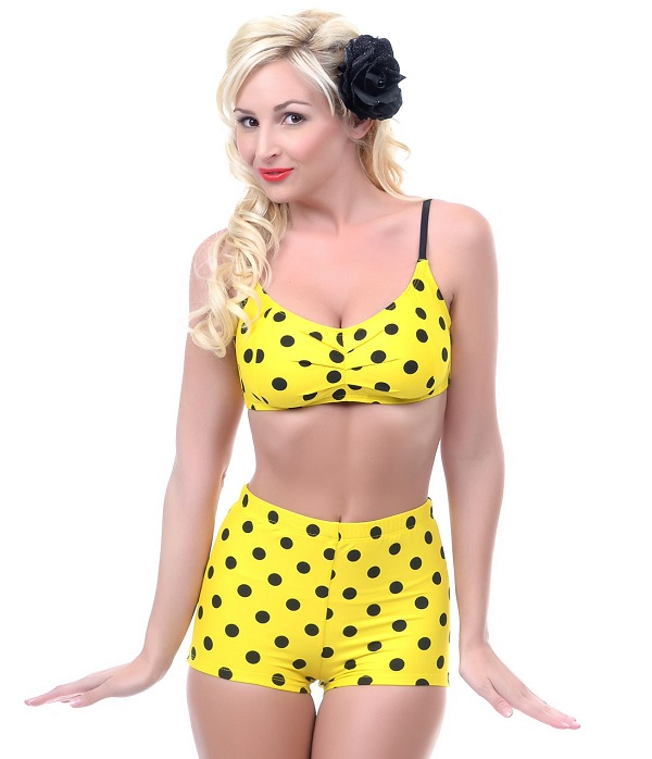 pYOgUfrtVK_1950s_Style_Yellow_Black_Polka_Dot_Two_Piece_Swimsuit