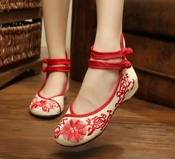 fashion-New-national-wind-shoes-women-casual-Embroidered-shoes-within-the-higher-Fall-Sunflower-old-Beijing